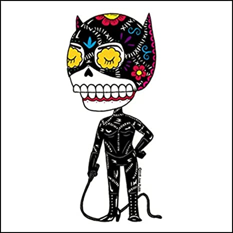 Weather Proof Die Cut Vinyl Day of The Dead Sticker Mis Nopales Catwoman