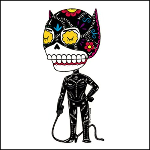 Mis Nopales Catwoman Weather Proof Die Cut Vinyl Day of The Dead Sticker