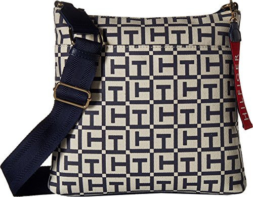 Logo Tommy Canvas Crossbody Navy Large Hilfiger Tommy Classic Womens TH Tommy xqcw1rT0qH