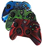DQDF® 3 Pack Combo Protective Silicone Case for Microsoft Xbox One Controller- Camouflage Red / Blue / Green Color Review