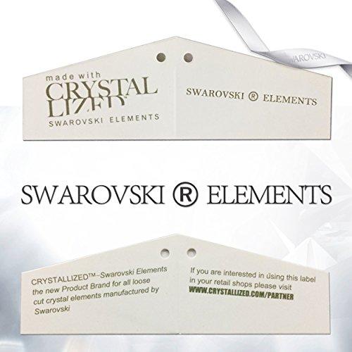 NEOGLORY Conjunto Collar Pendientes con Cristales SWAROVSKI BLANCO Joya Original Regalo Mujer Chica