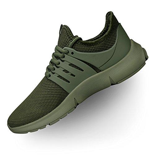Troadlop Womens Sneakers Flyknit Tennis Running Shoes Green 9.5 M US