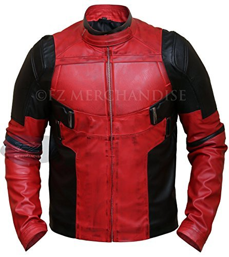 Men's Deadpool Wade Wilson Ryan Reynolds Synthetic Leather Jacket (M - Suitable for Person of Chest 40