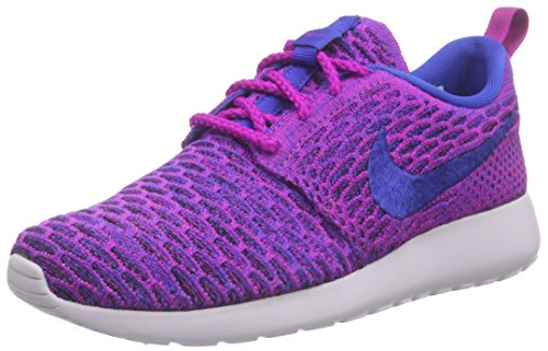 free shipping 4f138 0c260 nike womens rosherun flyknit running trainers 704927 sneakers shoes (US 8.5,  fuchsia flash game royal black 501) - Buy Online in Oman.