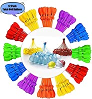 Water Balloons,444 Balloons Easy Quick Fill in 60 Seconds for Splash Fun Kids and Adults Pool Party(12 Bunches