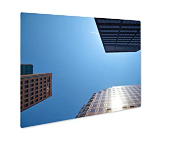 amazon ashley gicleeオフィスビルon空 壁アート写真印刷メタルの