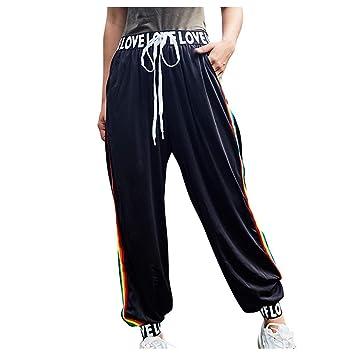 Amazon.com: FGDJEE Pantalones de chándal para mujer con ...