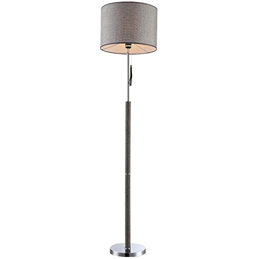 globo 24689 Umbrella Table Lamp, Metal, Grey
