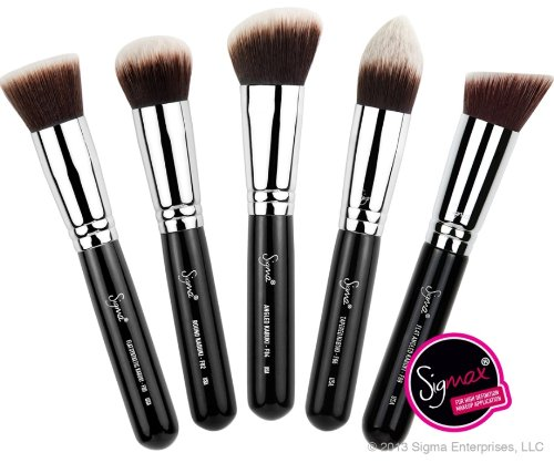 Sigma Collection - Sigma - Sigmax Kabuki Kit, for High Definition + Flawless Makeup Application, 5 brush kit