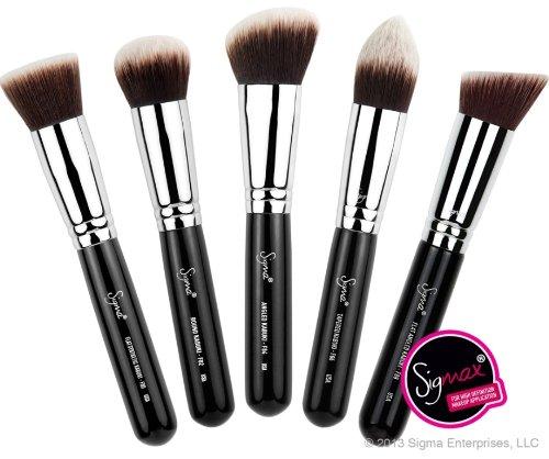Collection Sigma - Sigma - Sigmax Kabuki Kit, for High Definition + Flawless Makeup Application, 5 brush kit