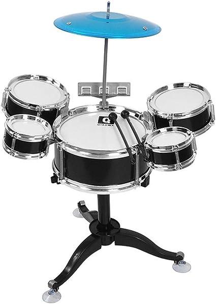 LIUFS-Tambor Juguete Del Tambor Para Niños 3-5 Años Percusión Para Principiantes Toque Del Bebe Tambores Niños Y ...
