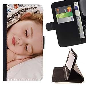 Momo Phone Case / Flip Funda de Cuero Case Cover - Dormir Cansado Bebé Pequeño Cabrito Lindo - LG G4c Curve H522Y (G4 MINI), NOT FOR LG G4