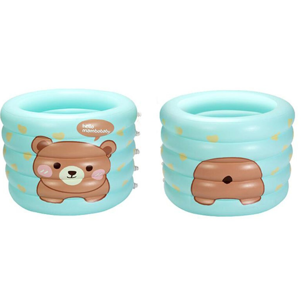 A LEI ZE JUN UK- Inflatable Baby Bath Tub Kid Infant Toddler Thick Foldable Bath Tub Air Baths ( color   A )