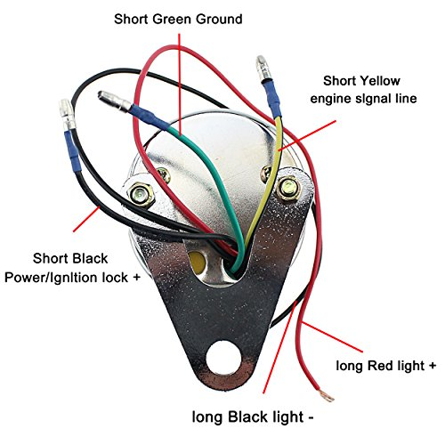 Motorcycle Odometer Sdometer Tachometer LED for Yamaha SR ... on