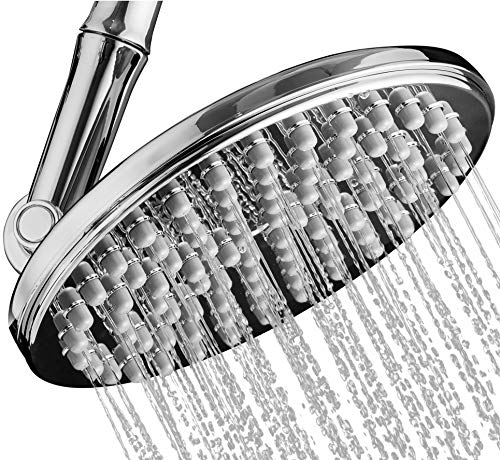 "Shower Head | Rainfall High Pressure 9.5"" w/Adjustable Extension Arm 