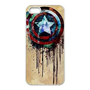 Captain America Discount Personalized Cell Phone Case for iPhone 5,5S, Captain America iPhone 5,5S Cover