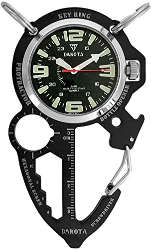 Dakota Multi-Tool Clip Watch Black (Clip Watch Knife Dakota)