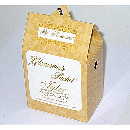 Tyler Candle Glamorous Sachet Set of 4 Boxes - High Maintenance by Tyler Candle