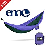 ENO - Eagles Nest Outfitters DoubleNest Hammock, Portable Hammock for Two, Purple/Forest