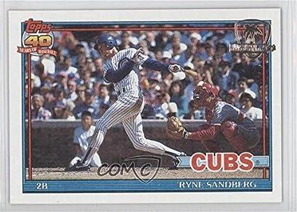 Amazoncom Ryne Sandberg Baseball Card 1991 Topps Base