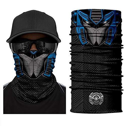 3D Transformers Neck Scarf Face Sun Mask Balaclava Bandana Biker Headwear UV for Women Men Fishing Hunting Motorcycles Cycling Outdoor Sport