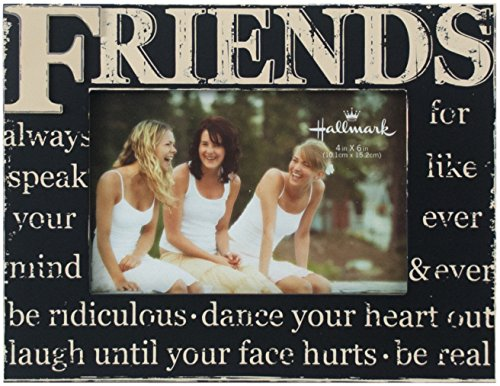 Hallmark Collectible Photo Frame (Friends Distressed, 4x6) (Picture Wooden Frame Friend)