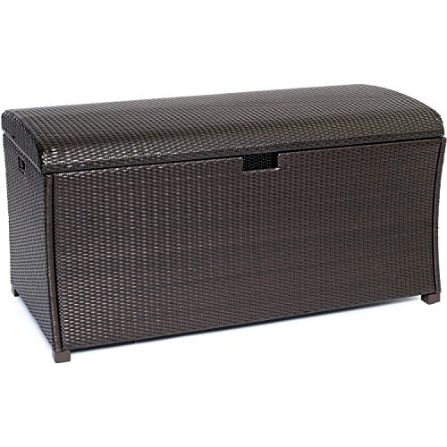 Hanover HAN-LGTRUNK Large Resin Deck Box for Outdoor Storage by Hanover