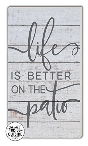 Kindred Hearts Life is Better Indoor/Outdoor Sign, Patio 11'' x 20'' Multicolor by Kindred Hearts (Image #2)