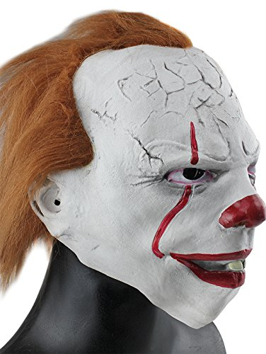 Scary Pennywise Movie Clown Mask Costume Stephen King's It Pennywise  Halloween Joker Masks Brown