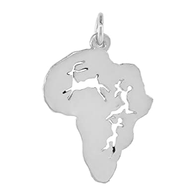 Amazon sterling silver continent of africa pendant 1 inch tall sterling silver continent of africa pendant 1 inch tall aloadofball Image collections