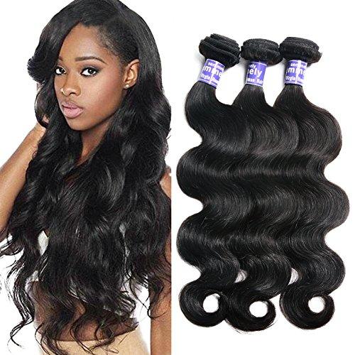 Semmely 8A Brazilian Hair 3 Bundles Body Wave 20 22 24 inch