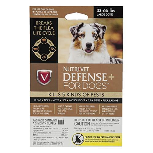 Nutri-Vet Defense Plus Flea & Tick Control for Large Dogs