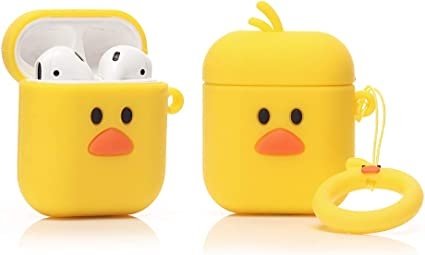 Designed for Kids Girl and Boys Cartoon Pattern Big Bird ZAHIUS Silicone Case Compatible for Apple Airpods 1/&2 Lightweight Cover