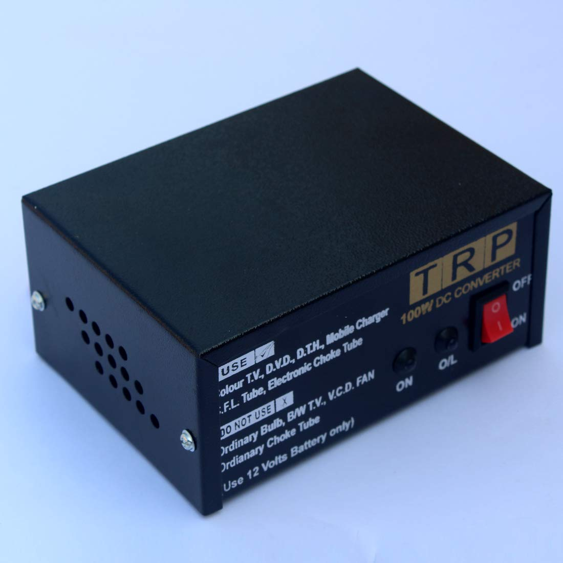 Trp Traders 12V DC Power To 220V AC Converter for Home, Car, Boat, Solar  Panel, Color Tv, Dth Box, Mobile Charger, Cfl (100W)
