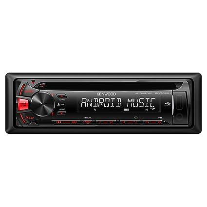 amazon com kenwood kdc122u cd receiver with front usb aux car rh amazon com
