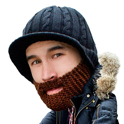 Beard Head Stubble Rider Beard Beanie - Funny