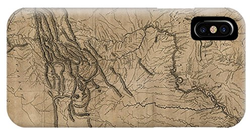 """iPhone X Slim Case """"Antique Map Of The Lewis And Clark Expedition By Samuel Lewis - 1814"""" by Pixels"""