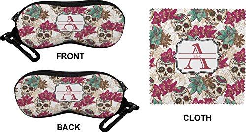 Sugar Skulls & Flowers Eyeglass Case & Cloth (Personalized)