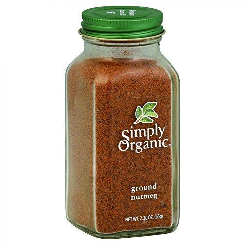 Simply Organic Nutmeg Ground CERTIFIED ORGANIC 2.3oz. bottle ( Multi-Pack)