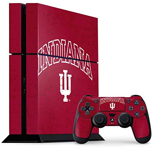 Indiana University PS4 Console and Controller Bundle Skin - Indiana University Distressed | Schools & Skinit Skin by Skinit