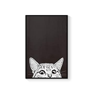 ZSH-two Cuadros Decorativos Colgantes Pintura Mural Gato Creativo Dormitorio Pintura de Noche (Color : E, Tamaño : 60 * 90cm): Amazon.es: Hogar