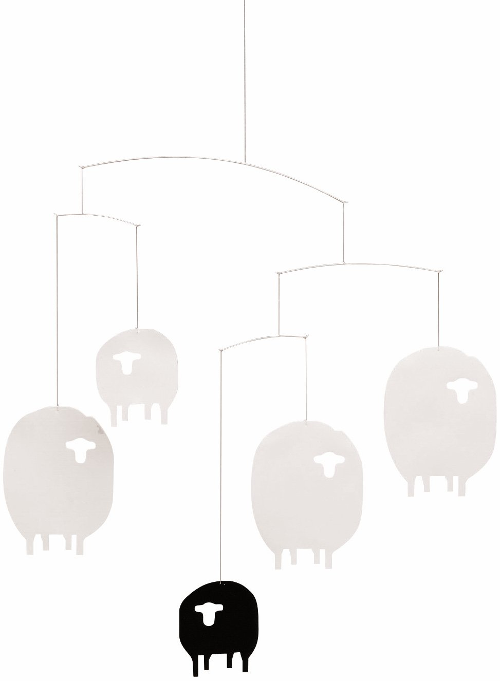 Flensted Mobiles Sheep Hanging Nursery Mobile - 17 Inches Plastic
