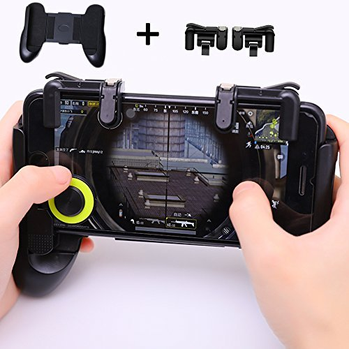 Mobile Game Controller Upgrade Version  Xinyun Sensitive Shoot And Aim Keys L1r1 And Gamepad For Pubg Knives Out Rules Of Survival  Mobile Gaming Joysticks For Android Ios 1Pair 1Gamepad