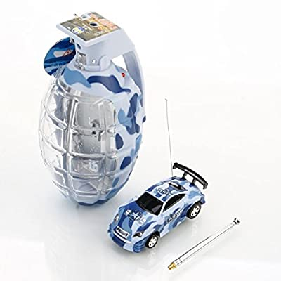 Mzanzi Great Value RC Cars FQ 8808 4 Chaneel 1:63 Grenade Shape Mini Remote Control Car Cobalt Blue: Toys & Games