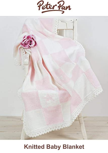 Peter Pan Baby Blanket.Peter Pan Baby Blanket Pink Knitting Kit Amazon Co Uk