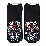 Women Men Children 3D Skull Printed Funny Short Socks Unisex Casual Low Cut Anklet Socks Hanican