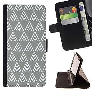 For HTC One A9 Case , Blanco vintage Wallpaper Rústico- la tarjeta de Crédito Slots PU Funda de cuero Monedero caso cubierta de piel