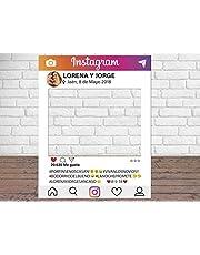 Photocall Instagram Personalizado Eventos o Celebraciones puntuales   Medidas 100x80cm   Ventanas Troqueladas   Photocall Divertido   Atrezzos.