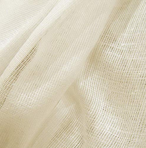 (Kaputar 10 Yards Natural Unbleached Tobacco Cloth Natural Cotton Fabric Weight | Model WDDNG -440 | 10 Yards)