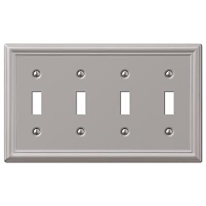 Wall Switch Plate Cover Chelsea Brushed Nickel Outlet Toggle Decora